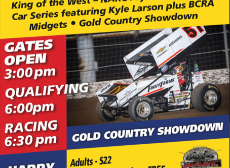 Kyle Larson Returns to Placerville Next Week