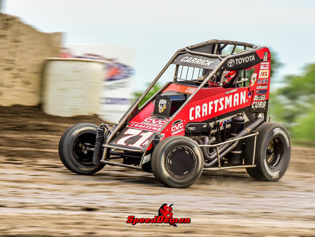 Tanner Carrick Scores Pair of Eighth Place Finishes During Rain Shortened POWRi Speedweek