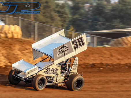 Blake Carrick Fights Forward to 12th at Placerville Speedway
