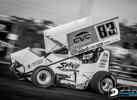 Tanner Carrick Adapts to Stockton Dirt Track Quickly During First Visit