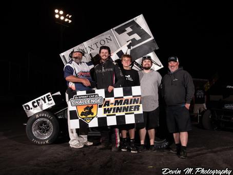 Kaleb Montgomery wins an entertaining Sprint Car Challenge Tour feature at Petaluma Speedway