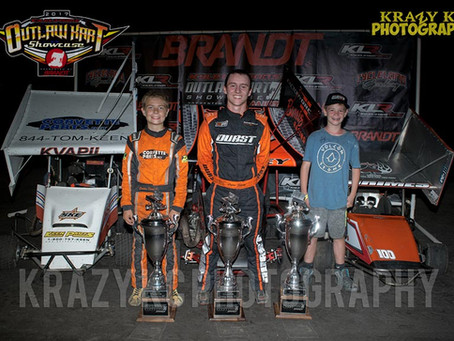 Logan Seavey Makes It Back to Back Wins at the Outlaw Kart Showcase
