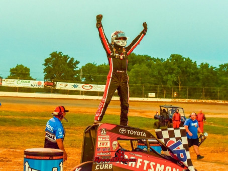 Carrick Cashes In and Scores First Career USAC National Midget Win