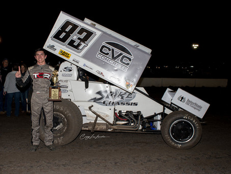 Tanner Carrick Cashes In for Second Career Sprint Car Win