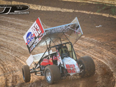 Tanner Carrick Fights Through Semi To Finish 13th at Placerville Speedway