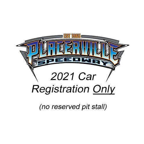 2021 Car Registration Only