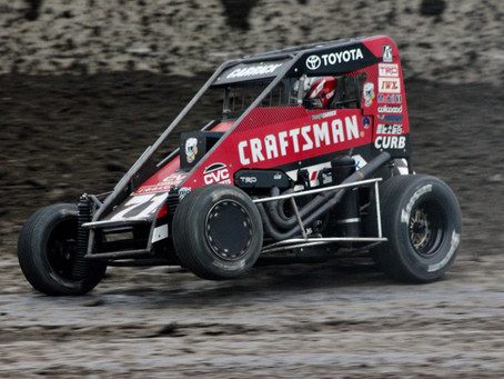 Tanner Carrick 13th at Granite City Friday, Before Rain Washes Saturday's Program Out
