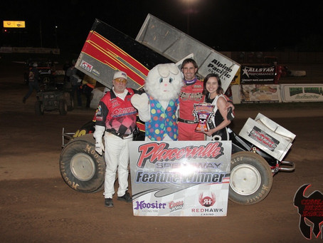 Sean Becker claims 24th career Placerville Winged 360 victory