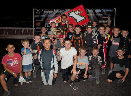 Larson Last to First; Wins Night One of the Outlaw Kart Showcase Presented by McDonald's