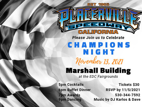 Placerville Awards Banquet Tickets Now Available!