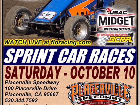 Wingless Mania Coming to Placerville Speedway