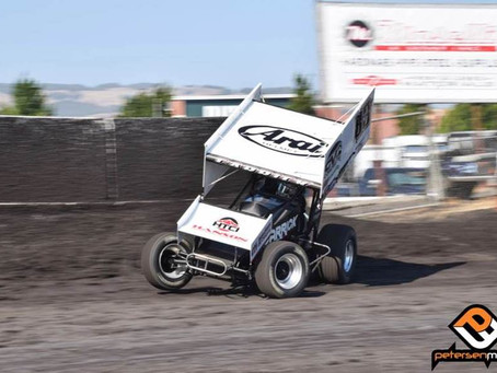 Tanner Carrick Fourth with the Sprint Car Challenge Tour at Petaluma Speedway