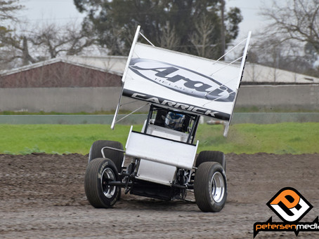 Blake Carrick Gets Sprint Car Season Underway in Stockton, CA