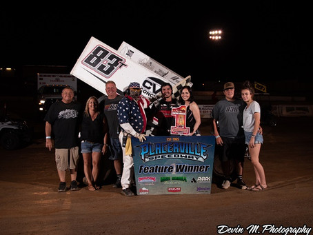 Tanner Carrick wins again at Placerville Speedway