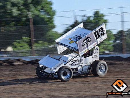 Tanner Carrick Works Way to 9th Place Finish at Stockton Dirt Track