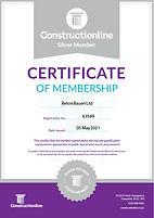 CONSTRUCTIONLINE_Silver Membership Certi
