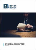 BETON BAUEN_Bribery & Corruption Policy_