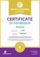 CONSTRUCTIONLINE_Gold Membership Certifi