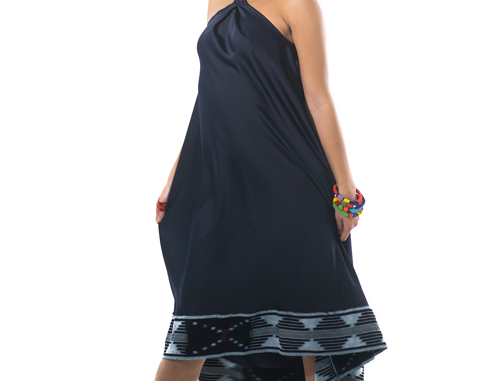 Robes Ample semi-courte - Bleu Nuit