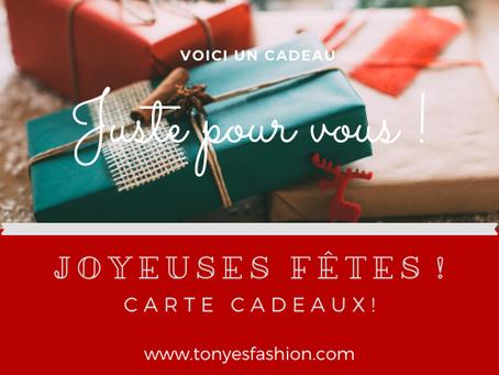 """Saviez vous que des """"Cartes Cadeaux""""  sont disponibles dans votre boutique ?"""