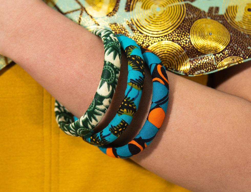 3 Bracelets Tissus