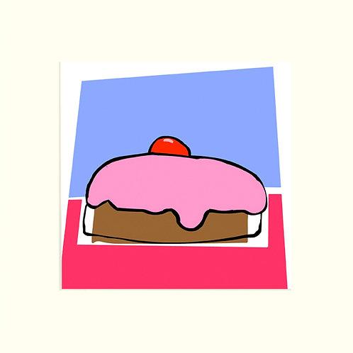 Pink Iced Bun