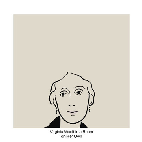 Virginia Woolf in a Room on Her Own Greeting Card