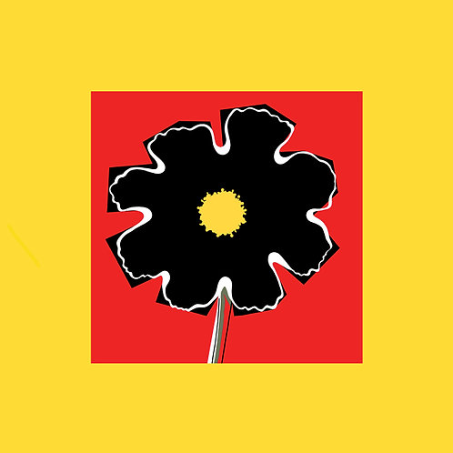 Yellow Red Black flowerhead SMALL