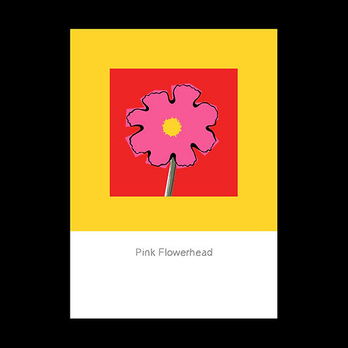 Flowerhead Pink POSTCARD