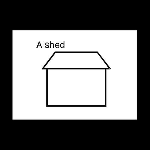 A Shed POSTCARD