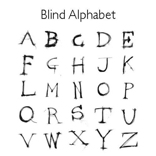 Blind Alphabet Greeting Card