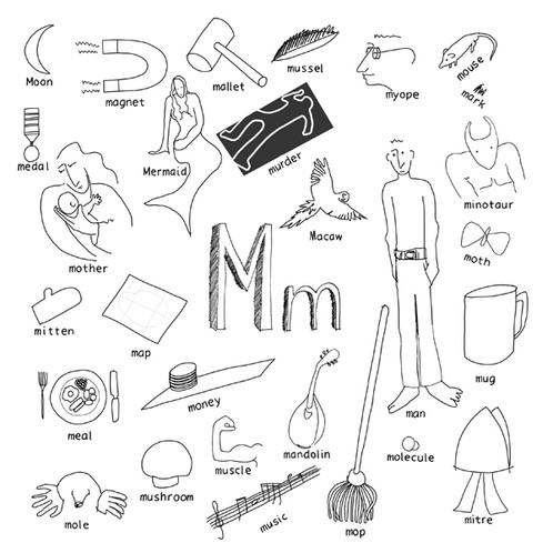 "alphabet of things ""m"""