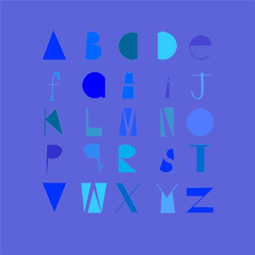 Lover's Alphabet greeting card