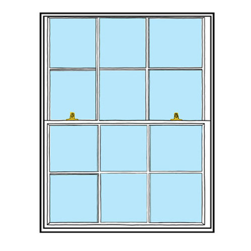 Sash Window greeting card