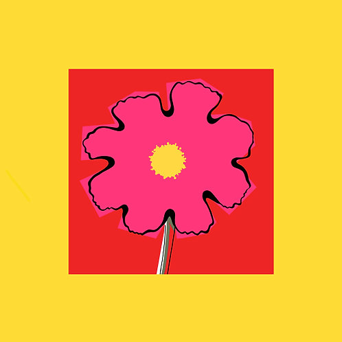 Yellow Red Pink flowerhead SMALL