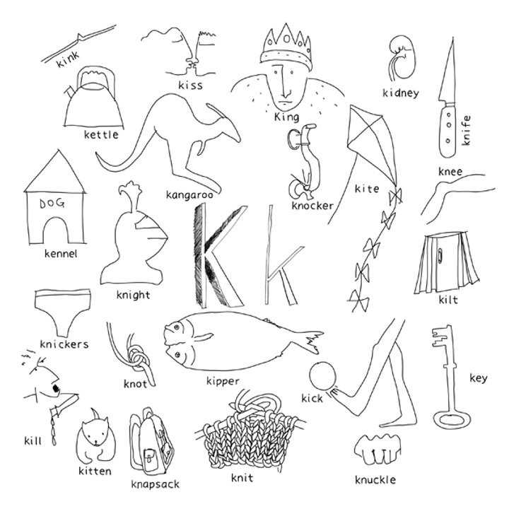 Things With Letter K.Alphabet Of Things K Pinsandeasels