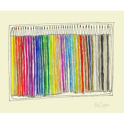 New Pencils A3 print