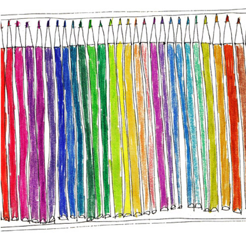 New Pencils greeting card