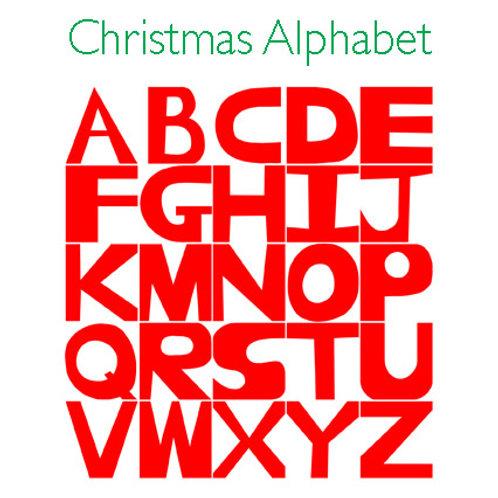 Christmas Alphabet greeting card