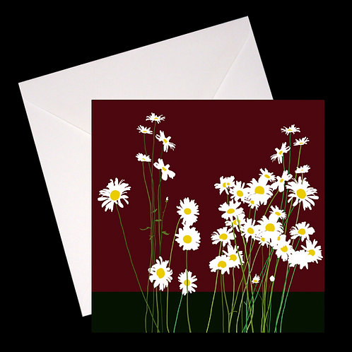 Dog Daisies of July GREETINGS CARD