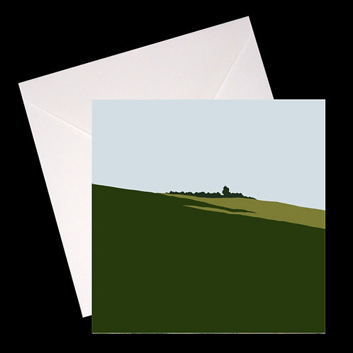 Landscape with Trees GREETINGS CARD