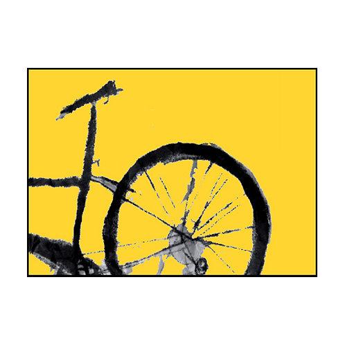 Yellow Bike Postcard