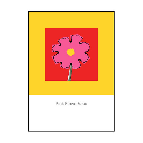 Flowerhead (Pink) Postcard