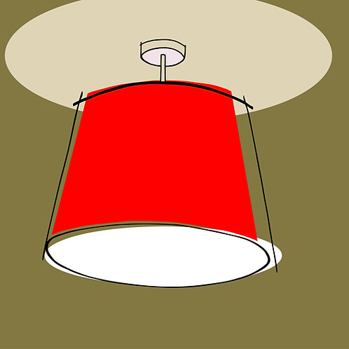 Lampshade Red
