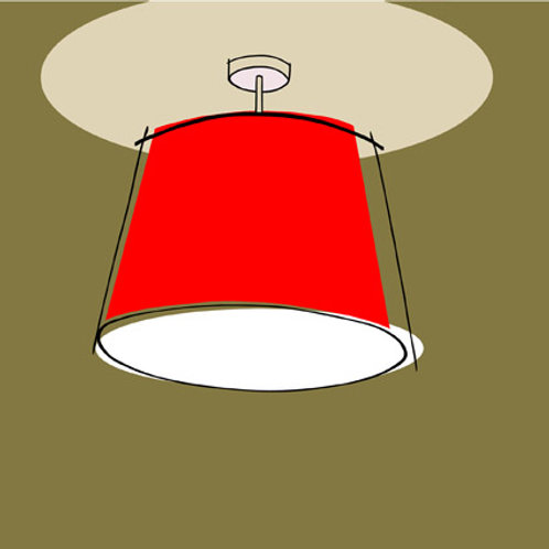 Red Lampshade Greeting Card