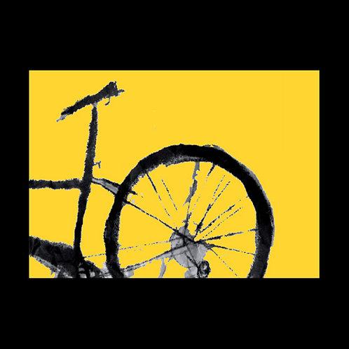 Bike, Yellow POSTCARD