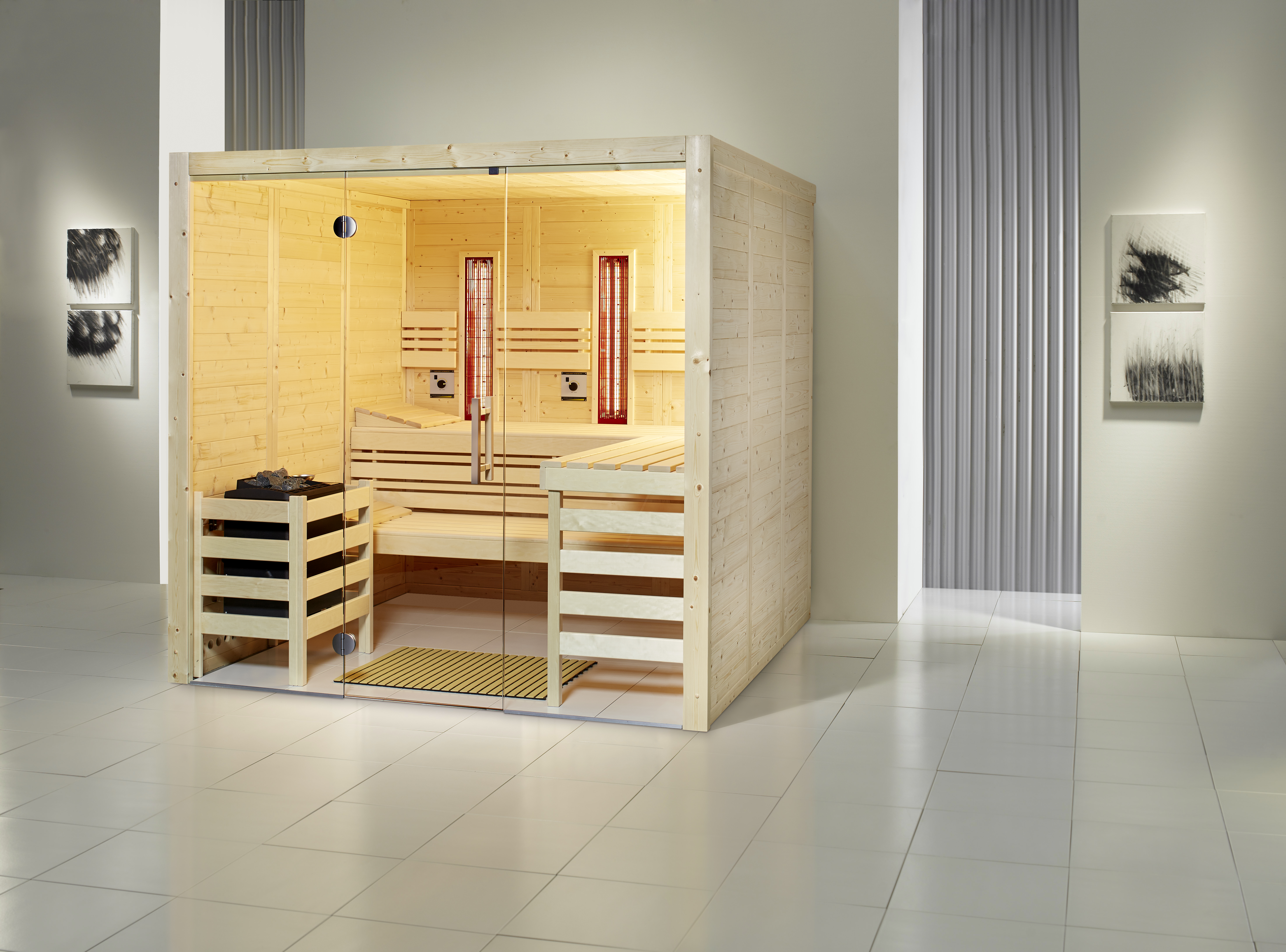Sauna Opal Massiv S45