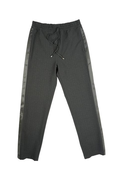 Patrizia Pepe Black Lurex Trousers