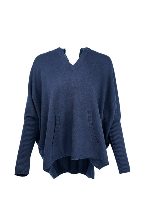 Not Shy Hooded Cashmere Top