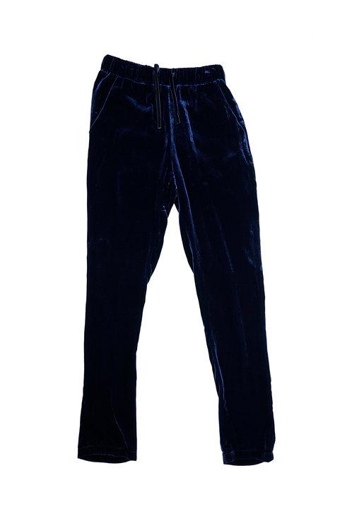 Not Shy Blue Velvet Trousers
